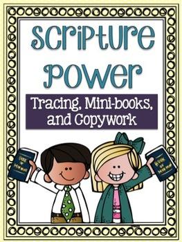 Scripture Power Tracing, Mini-books and Copywork