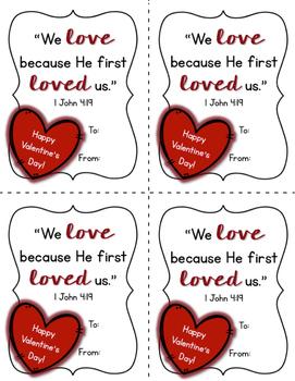 Scripture Valentines - FREEBIE