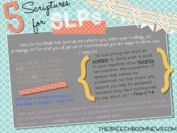 Scripture for School Poster (SLP, OT, TEACHER, SLPA, PT, IS)