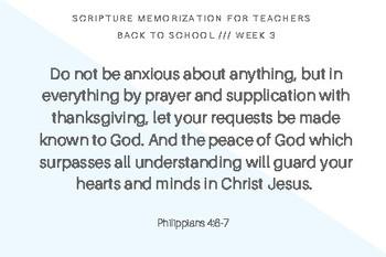 Scripture memorization for teachers and slps | Philippians 4:6-7