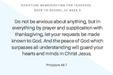 Scripture memorization for teachers and slps | Philippians 4:6-7