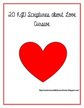 Scripture on Love Copywork- Cursive