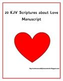 Scripture on Love Copywork Manuscript