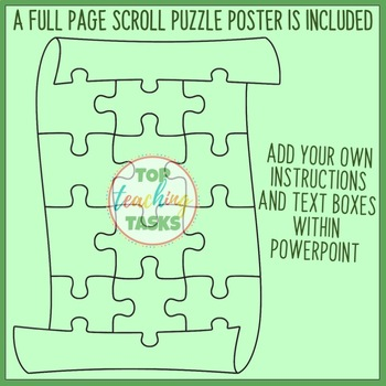 Scroll Editable Puzzle and Poster