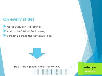 Scrolling Objectives PowerPoint Template