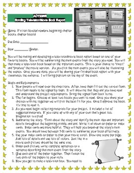 Scrolling Television Book Report Project-English & Spanish Directions Provided