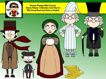 Scrooge: A Christmas Carol Clip Art Collection