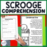 Scrooge Christmas Carol Reading Comprehension Passages and Questions