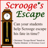 Scrooge's Escape: A Christmas Escape Room Activity (NO PREP)
