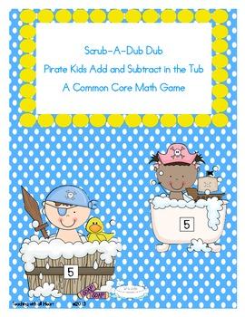 Scrub-A-Dub Dub Pirate Kids Add and Subtract in the Tub