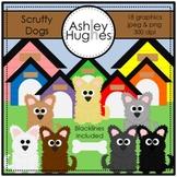 Scruffy Dogs Clipart {A Hughes Design}
