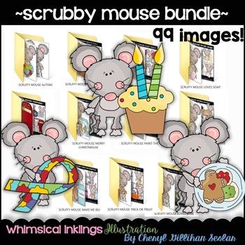 Scruffy Mouse Bundle Set~ 99 Images!