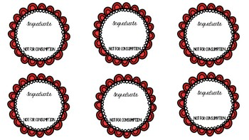 Scrumptious Strawberry Sugar Scrub Labels