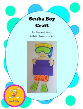 Scuba Craft -Decorative Display Craft for Bulletin Boards, Student Work, or Art