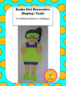 Scuba Craft -Decorative Display/Craft for Bulletin Boards and Hallways