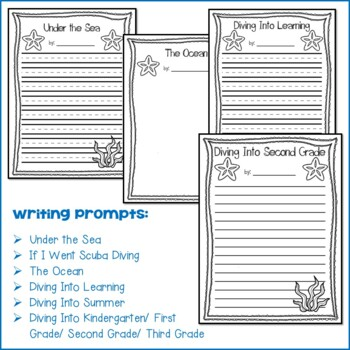 Scuba Diver Craft and Writing Prompts