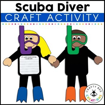Scuba Diver Craft By Crafty Bee Creations Teachers Pay Diving Templates