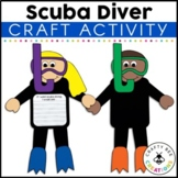 Scuba Diver Craft | Ocean Animals Activity | Sea Life | Writing | Bulletin Board
