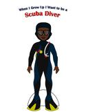 Scuba Diver Paper Doll Outfit