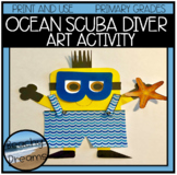 Scuba Diver Print and Make Art Project for the Primary Grades