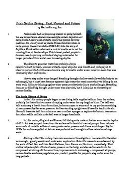 Scuba Diving - Informational Text Test Prep