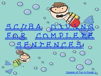 Scuba Diving for Complete Sentences