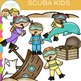 Little Shorties Scuba Kids Clip Art