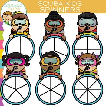 Scuba Kids Spinners Clip Art