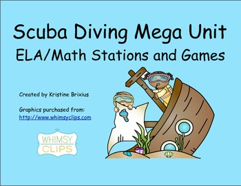 Scuba MEGA Math and ELA Stations