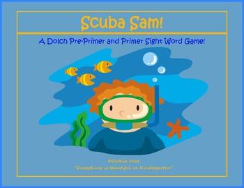 Scuba Sam!  A Pre-Primer and Primer Sight Word Game