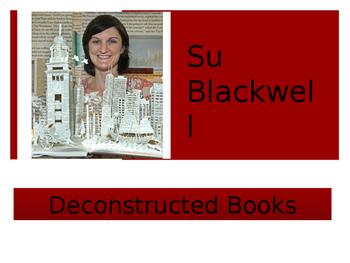 Sculpture PowerPoint on Deconstructed Books