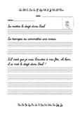 Écriture cursive - Se mettre le doigt dans l'oeil