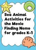Sea Animal Activities for K-1