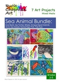 Sea Animal Bundle: 7 Art Lessons for Grades 3-6