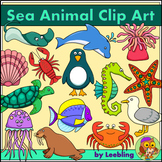 Sea Animal Clip Art - Color and B/w Sea Creatures
