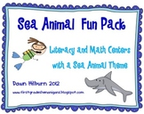 Sea Animal Fun Pack Literacy and Math Centers