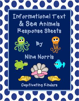 Sea Animal Informational Response Sheets