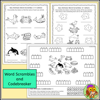 Sea Animal Puzzles - Advanced Version