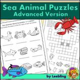 Sea Animal / Ocean Animal Puzzle Activities - Advanced Version