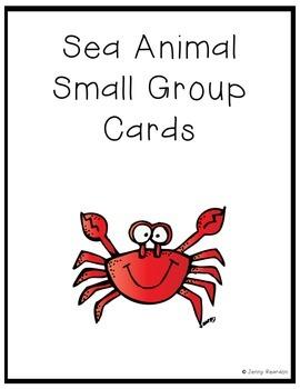 Sea Animal Small Group Cards