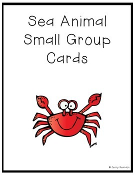 Sea Animal Small Group Cards