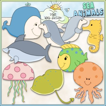 Sea Animals Clip Art - Under The Sea Clip Art - CU Clip Art & B&W