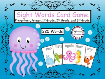 Sea Animals 220 Sight Words
