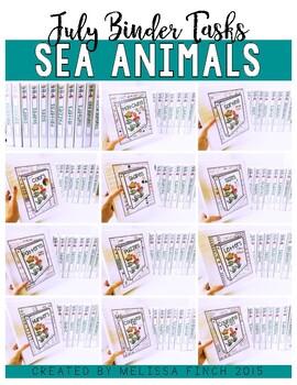 Sea Animals Bundle- Independent Work Binder System