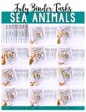 Sea Animals Binder- Binder Basics Work System