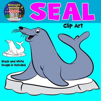 Sea Animals Clip Art - Seal