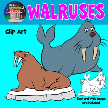 Sea Animals Clip Art - Walrus