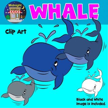 Sea Animals Clip Art - Whale