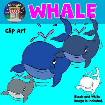 Sea Animals Clip Art - Whale