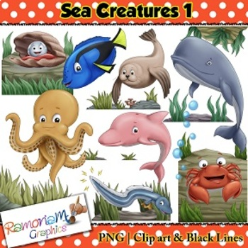 Sea Animals Clip art